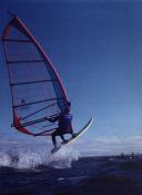 Wick windsurfing jump