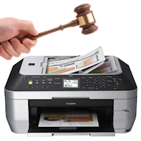 Canon MX860: how to scan legal-size documents