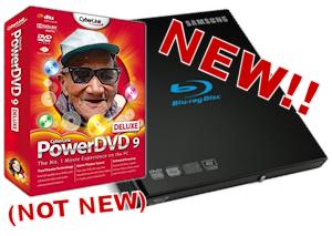 Samsung SE-506AB Blu-ray Burner includes ancient PowerDVD 9 software