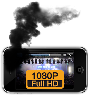 iPhone can't handle 1080p