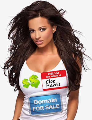 Cloe Harris fake domain offers