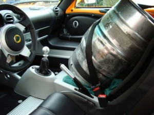 Do whatever it takes to get the keg home safely.