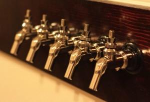 Shiny Perlick taps.