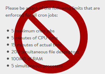 MediaTemple Cron Job Restrictions